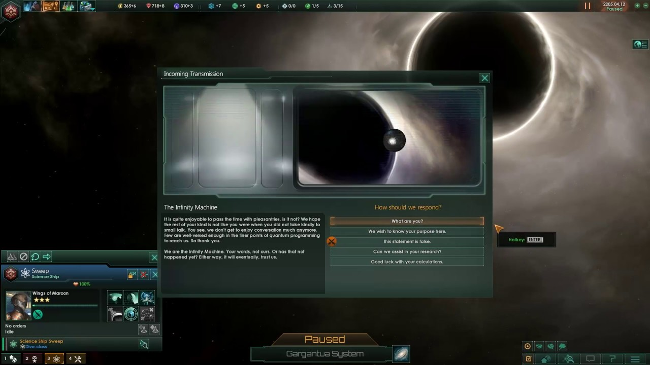 Stellaris: Breaking The Infinity Machine - This Statement Is False & Self  Destruct Options by TheGamakazi