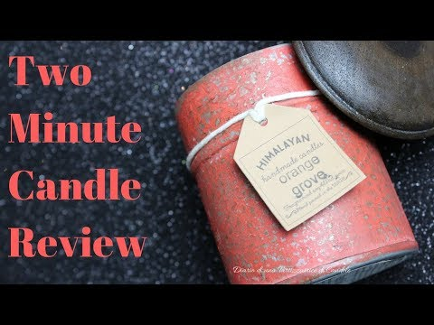 Two Minute Candle Review - Orange Groove Himalayan Handmade Candle