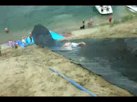 Lake Roosevelt Water Slide