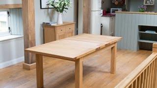 Tallinn 2.0m Extending Oak Dining Table Sold By Top Furniture
