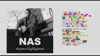 Nas - It Ain't Hard To Tell - Verse 1 & 2 - Lyrics, Rhymes Highlighted (094)