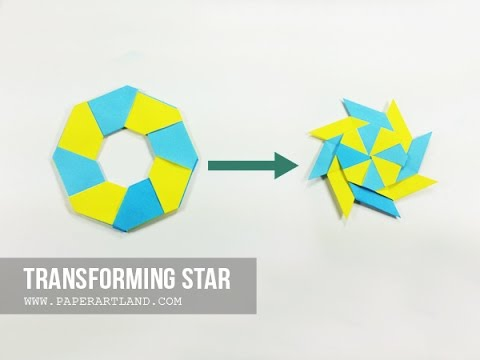 How To Make An Origami Transforming Star Frisbee Traditional