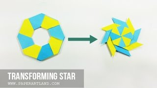 How to Make an Origami Transforming Star / Frisbee (Traditional )