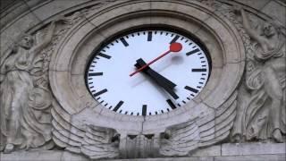 【スイス】 スイスrailway station clock 「Stop To Go」