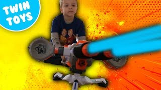 Nerf War:  The Loose Tooth Extreme Warhead Try Not to Laugh Challenge Kids React