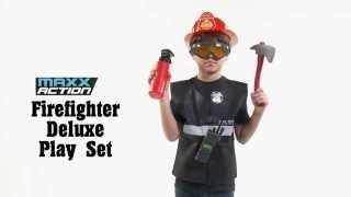 Maxx Action Firefighter Deluxe Costume Dress-Up Play Set (8-Piece)