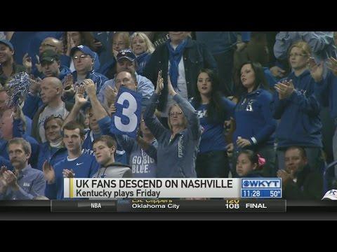 UK fans descend on Nashville for the SEC Tournament