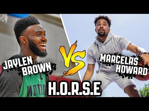 "Jaylen Brown Vs. Marcelas Howard   EPIC GAME OF ""H.O.R.S.E"""