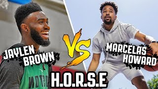 "Backyard legend Marcelas Howard challenges Boston Celtics Jaylen Brown to a game of HORSE. Music: Lil Nas ""Old Town Road"", Dr. Dre & Snoop Dog ""The ..."