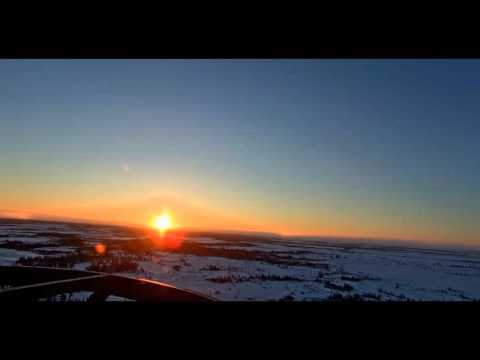 NIBIRU REAL- TIME SUNSET! CANADA Churchill northern studies center 2016-01-25