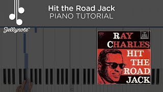 Hit the Road Jack Ray Charles - Easy Piano Chords Tutorial