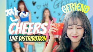 [여자친구]GFRIEND '짠-CHEERS' line distribution