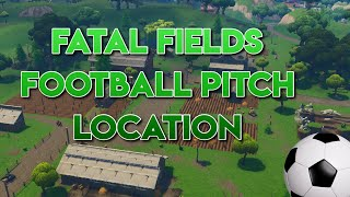 Fortnite Fatal Fields Football Pitch Location!!
