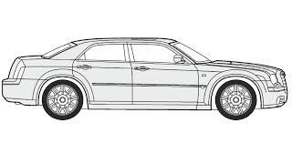 How to Draw a Chrysler 300C / Как нарисовать Chrysler 300C
