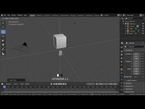 Blender 2.8 Basics - Resizing And Scaling