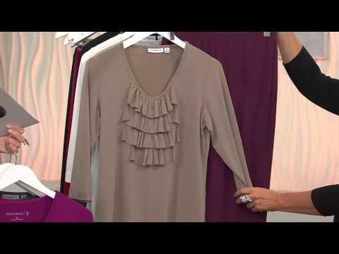 1X NEW Marc Bouwer Sweater Knit Long Sleeved Fringe Detailed Cascade Cardigan M