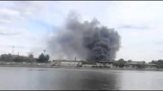 Пожар на московском заводе ЗИЛ