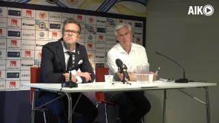 Presskonferens efter Kalmar FF-AIK 0-1