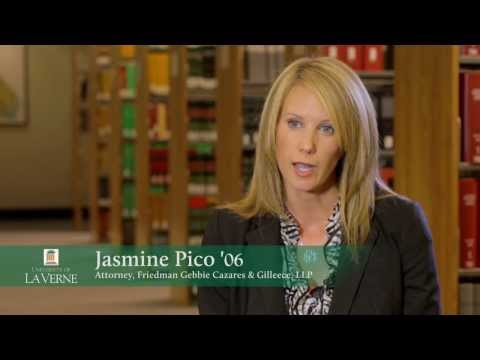 Jasmine Pico - The La Verne Law Experience