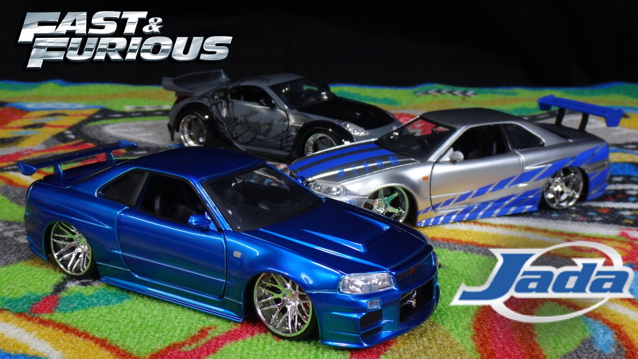 fast and furious brians blue nissan skyline gtr jada toys youtube - Fast And Furious Cars Skyline
