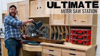 ULTIMATE Miter Saw Station with Downdraft Table! thumbnail