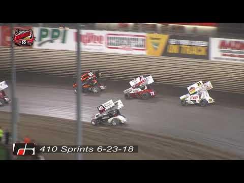 Knoxville Raceway 410 Highlights - June 23, 2018