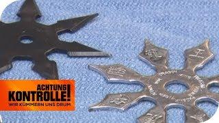 Stichprobenkontrolle am Flughafen: Wer hat verbotene Waffen dabei? | Achtung Kontrolle | kabel eins