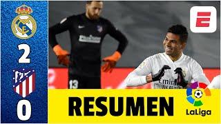 Real Madrid 2-0 Atlético de Madrid. Casemiro y autogol de Jan Oblak sentenciaron el derbi | LaLiga