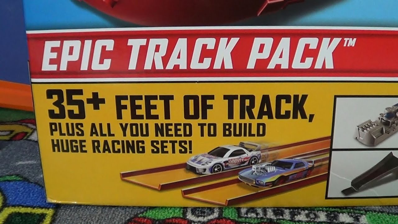Jump Box For Cars >> Hot Wheels Epic Track Pack Four Boosters, Two Loops, Ten Cars, Awesome Box Set! - YouTube