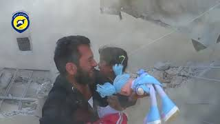 White Helmets, another fake rescue of children, May 2016