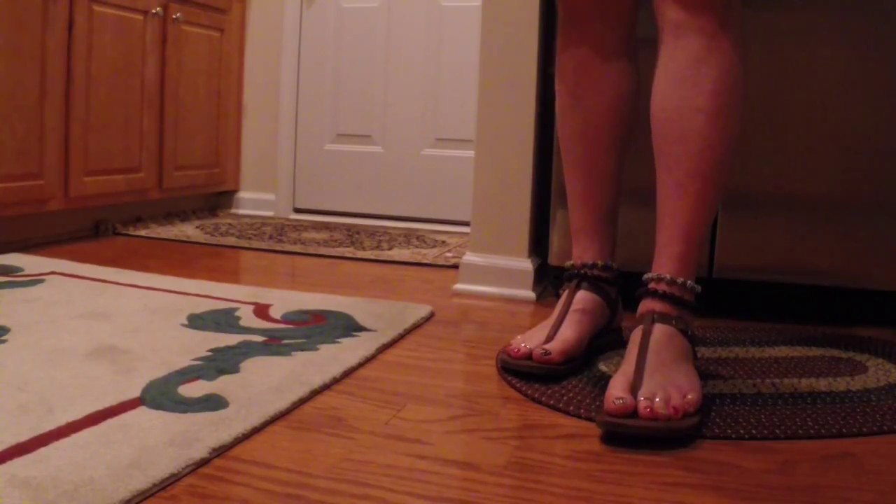 T Strap Sandals - YouTube