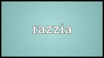 Razzia Meaning