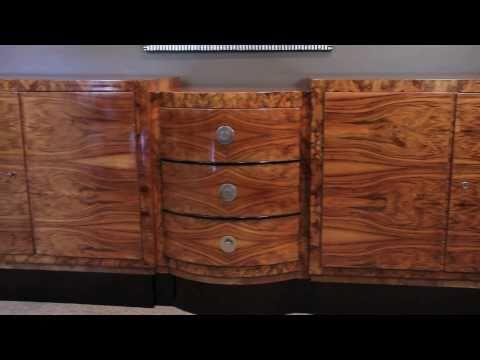 Antique French Art Deco Sideboard - Carrocel Restorations