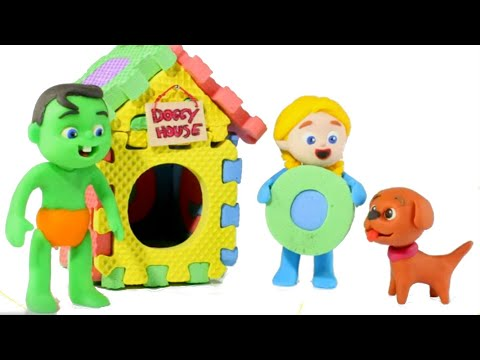 Kids Building A Doggy House ❤ Cartoons For Kids