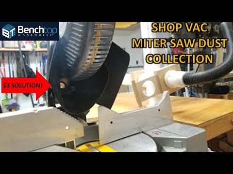 Miter Saw Dust Collection, simple and extremely effective! see update with test(link in description)