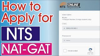 How To Apply For Nts Nat Test 2019