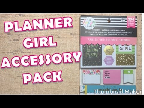 NEW RELEASE | PLANNER GIRL ACCESSORY PACK | HAPPY PLANNER | FLIP THROUGH
