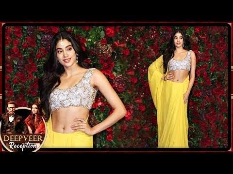 Janhvi Kapoor Looks Like A PRINCESS At Deepika Ranveer Mumbai Reception Party 2018