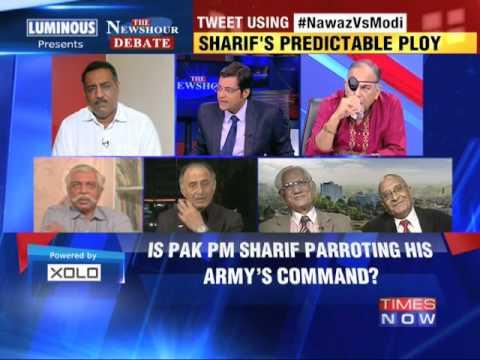 The Newshour  Debate: Nawaz Sharif Vs Narendra Modi - Part 2 (14th August 2014)