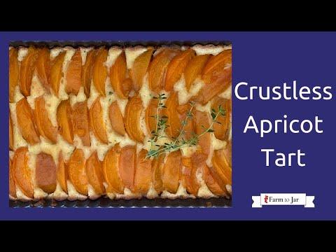 Low Carb Crustless Apricot Frangipane Tart