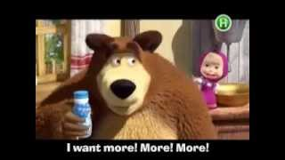 Masha and Bear in English (tv advertisment in ukraine)