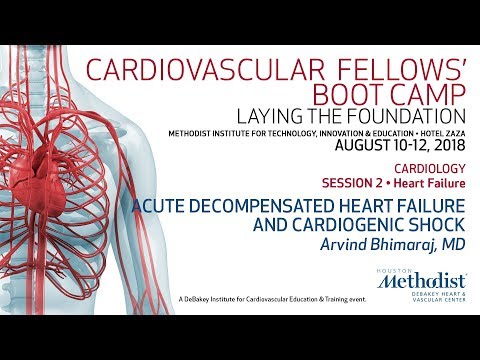 Acute Decompensated Heart Failure And Cardiogenic Shock (Arvind Bhimaraj, MD)