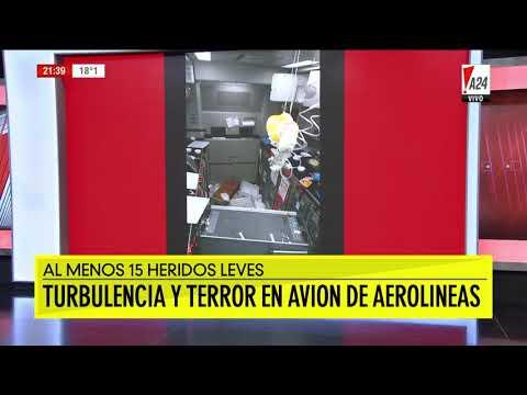 Pánico en un avión que volaba de Miami a Buenos Aires por fuertes turbulencias