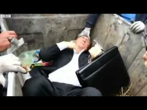 Corrupt Politician Thrown in Garbage Bin- Ukraine