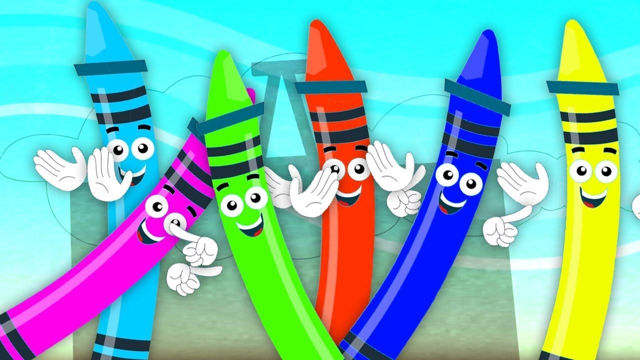 мелки цвет песня   учить цвета в россии   русские названия цветов   Crayons Color Song