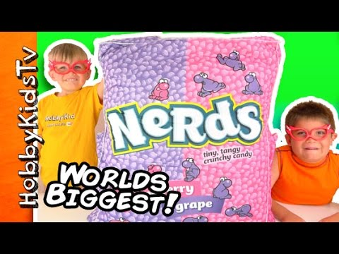Worlds BIGGEST NERDS! Surprise Toys + Bubbles, Blind Boxes and Candy by HobbyKidsTV