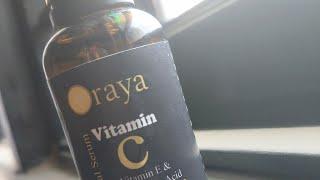 Oraya Vitamin C Face Serum unboxing amazon