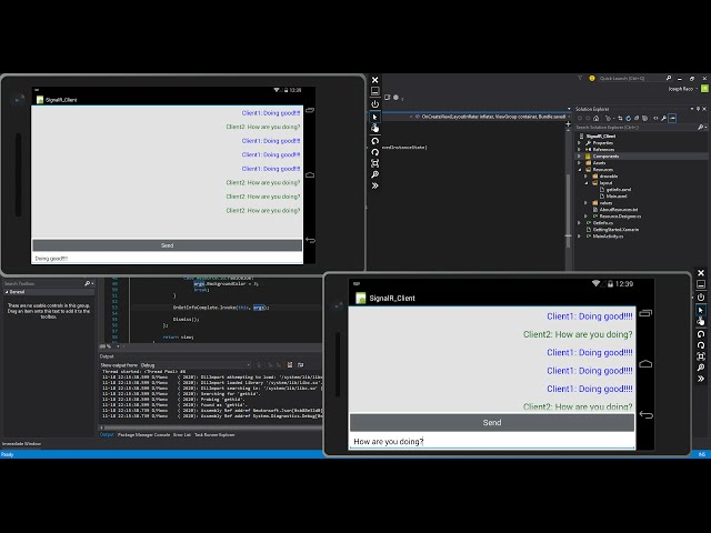 Xamarin Android Tutorial   77   SignalR Chat Client Part 4