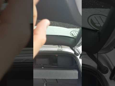 Vw golf mk6 tailgate boot letting in water