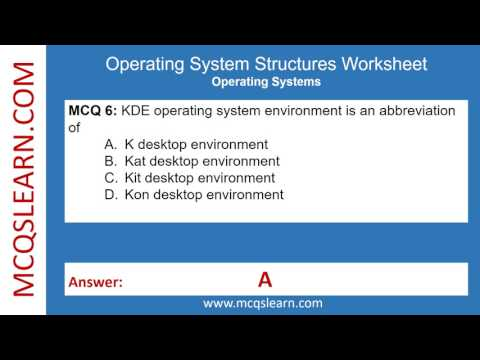 Operating System Structures Worksheet - MCQsLearn Free Videos